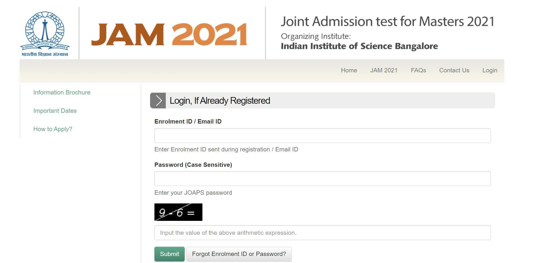 IIT JAM Admit Card 2021 Releaseing at jam.iisc.ac.in