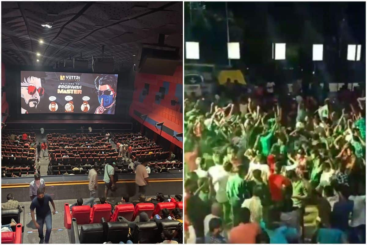 Crowd Goes Berserk as They Gather in Large Numbers to Watch Vijay, Vijay Sethupathi's Film