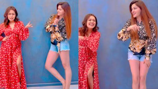 Rubina Dilaik, Neha Kakkar Perform Hook Up Steps on Their Hit Song