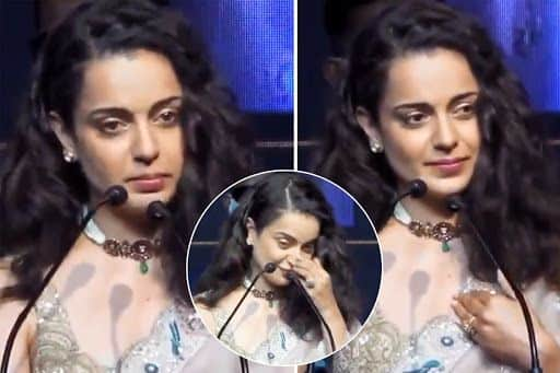 Babbar Sherni Kangana Ranaut Breaks Down For Director AL Vijay at Thalaivi Trailer Launch