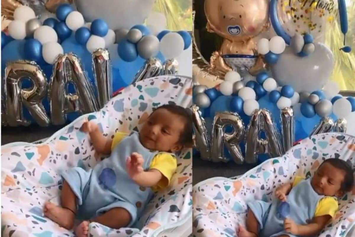 Anita Hassanandani Shares Her 'Pawri Hori Hai' Moment as Her Son Aaravv Turns 1-Month-Old, Viral Video Breaks Internet
