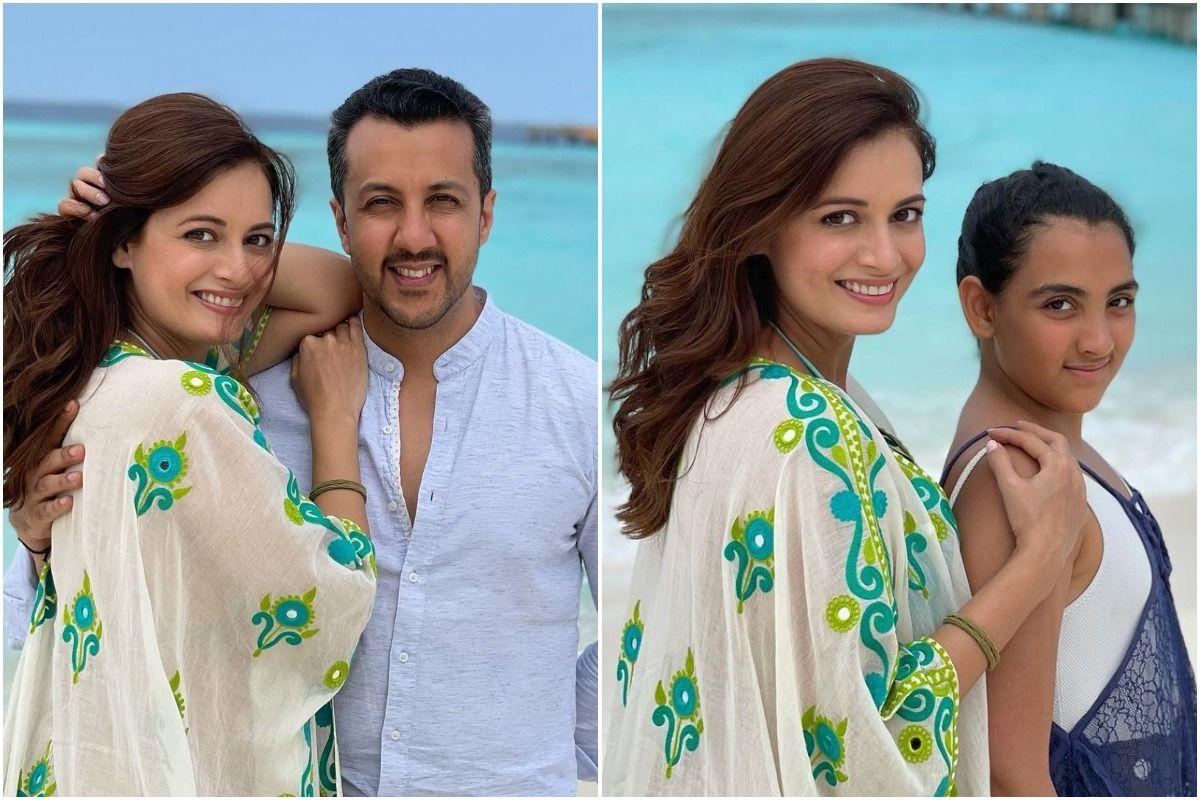 Dia Mirza Makes Memories With Vaibhav Rekhi And Daughter Samaira in Stunning Pics From Maldives