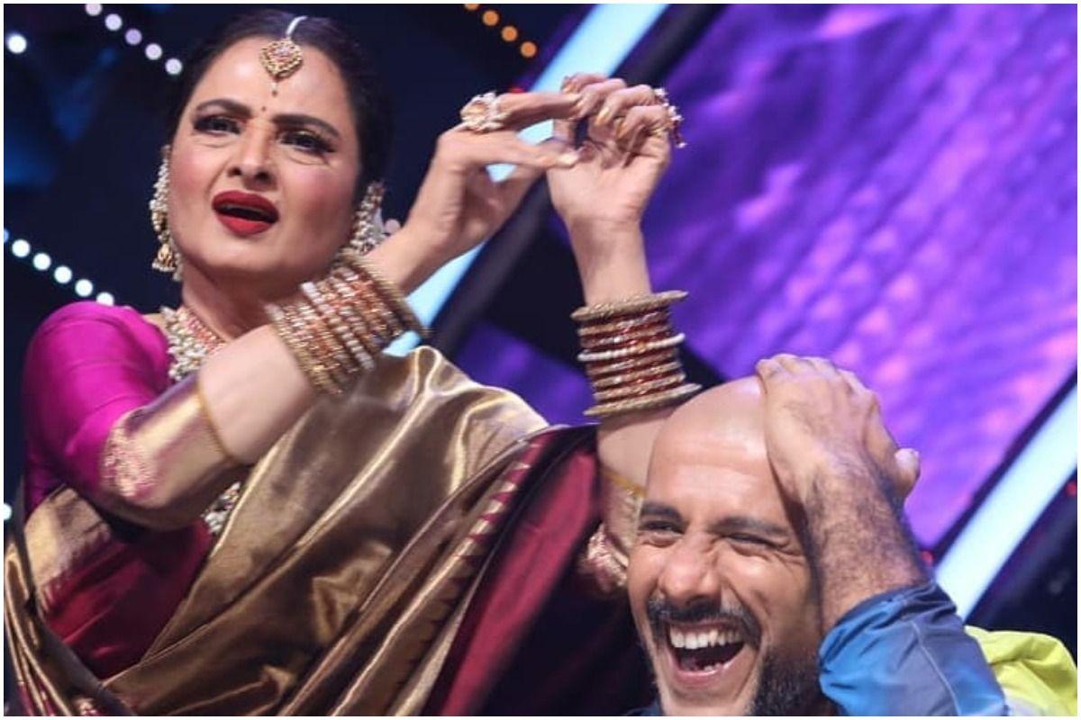 Rekha Plays Tabla on Vishal Dadlani Bald Head, Singer Shares The Funny Incident