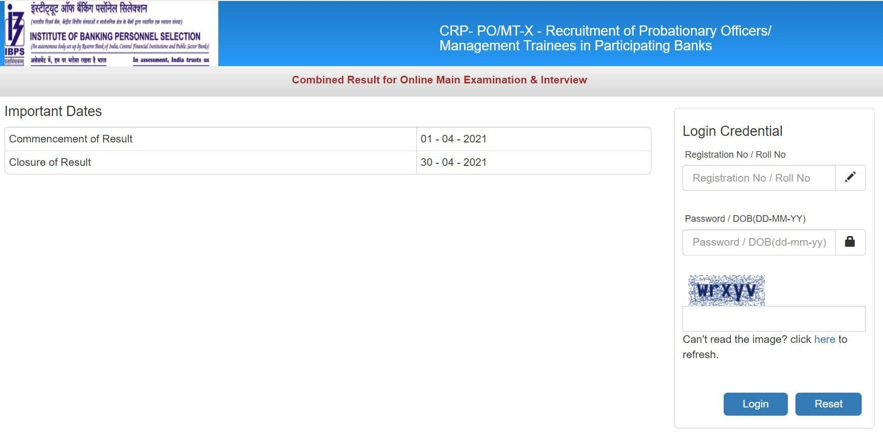 IBPS SO Result 2021 For Mains And Interview Declared at ibps.in