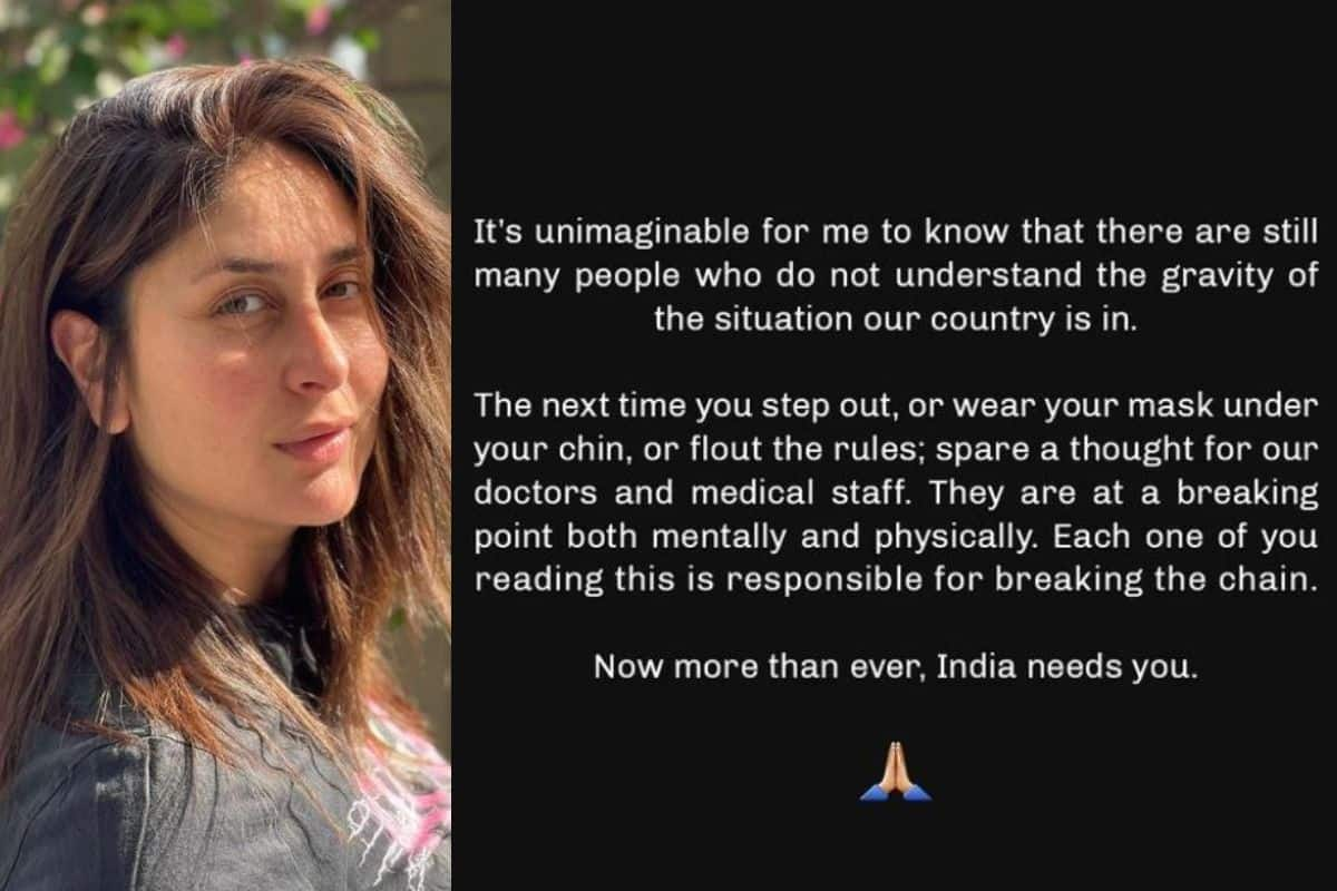 Kareena Kapoor Khan Expresses Disappointment Over People Who Don't Understand 'Gravity of The Situation'