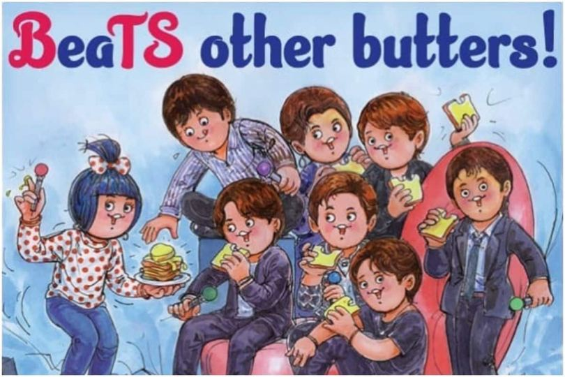BTS And Butters! Amul Seems Happiest About K-Pop's New Single And ARMY is Going Crazy!