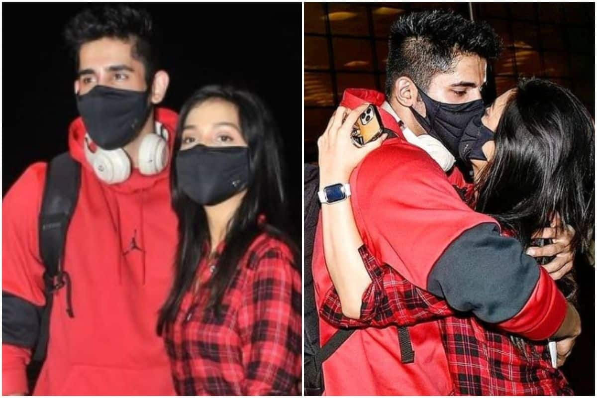 Varun Sood-Divya Agarwal Kiss Through Their Masks As He Leaves For Khatron Ke Khiladi