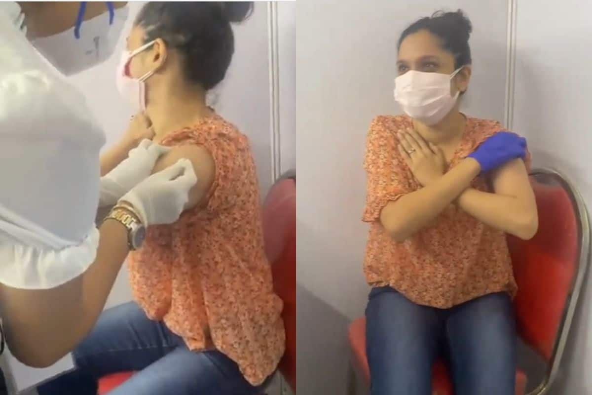 Ankita Lokhande Is Afraid Of Syringes, Chants 'Bappa' While Taking Vaccine Jab