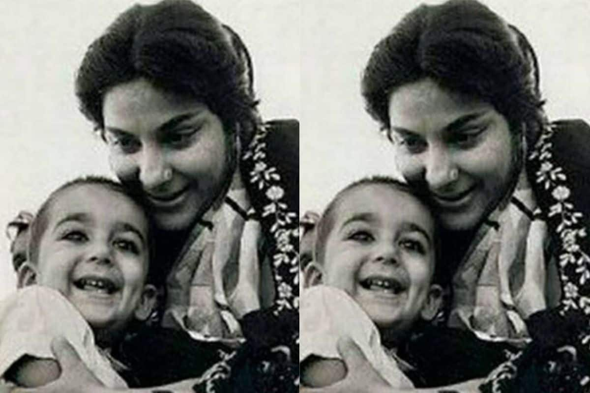 Young Sanjay Dutt Poses In Mom Nargis' Lap In This Never-Seen-Before Throwback Picture