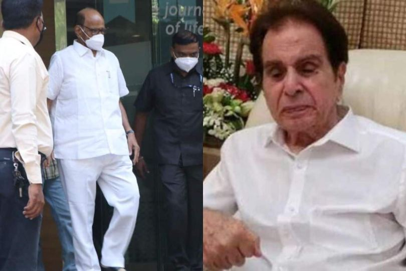 Sharad Pawar Visits Dilip Kumar At Hospital After Actor Was Admitted For Routine Tests