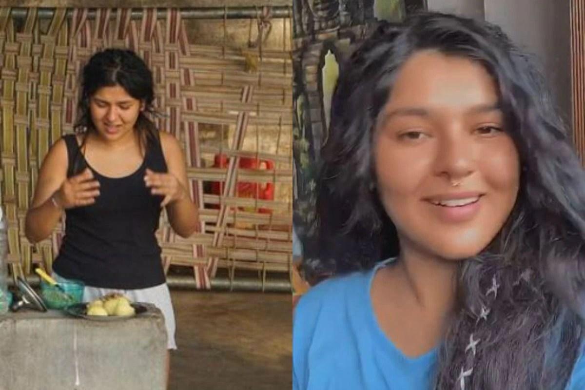 Taarak Mehta Ka Ooltah Chashmah Fame Nidhi Bhanushali Aka Sonu Struggles To Chop Potatoes As She Lives Village Life