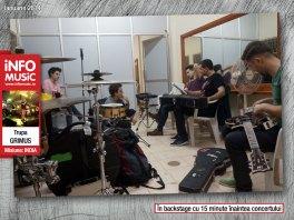 Grimus în backstage, cu 15 minute înainte de concert