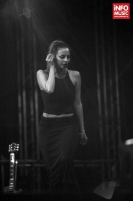 Francesca Belmonte în concert cu Tricky pe 27 iunie 2014 la București