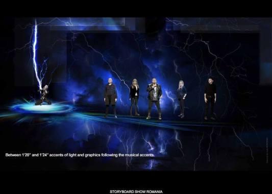 Imagine din storyboard-ul show-ului pregătit de Ovidiu Anton