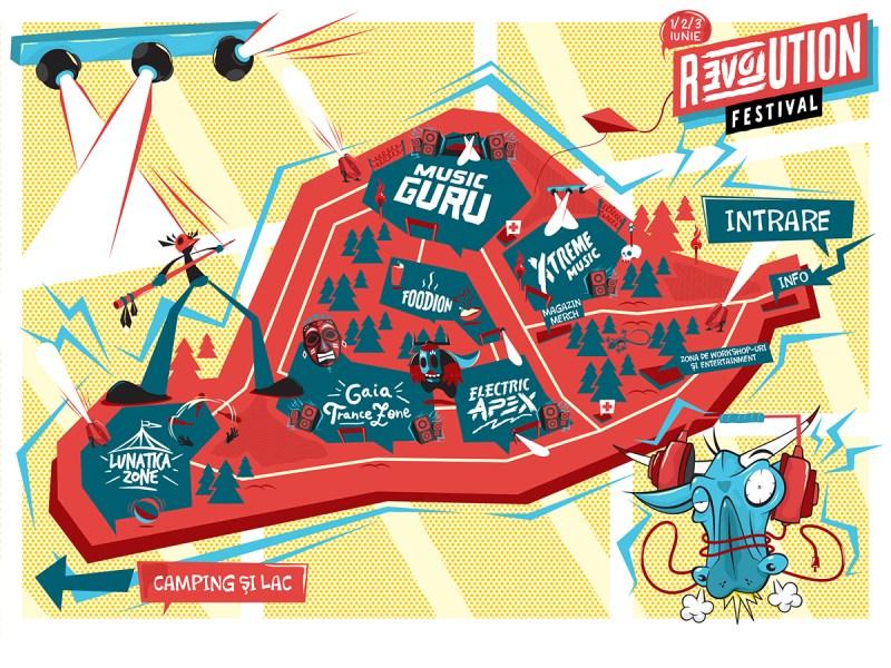 Hartă Revolution Festival 2017