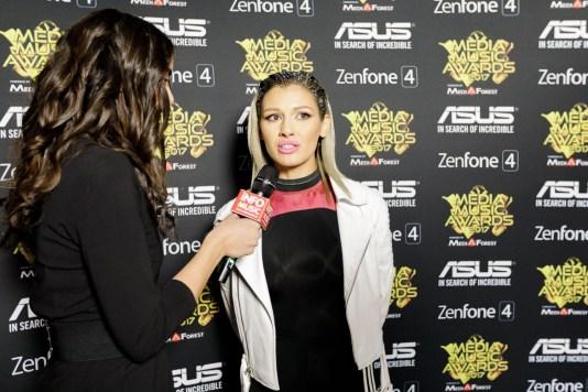 Alina Eremia intervievată de InfoMusic.ro în backstage la Media Music Awards 2017