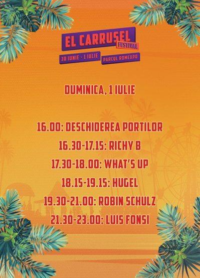 Programul El Carrusel - ziua de duminică