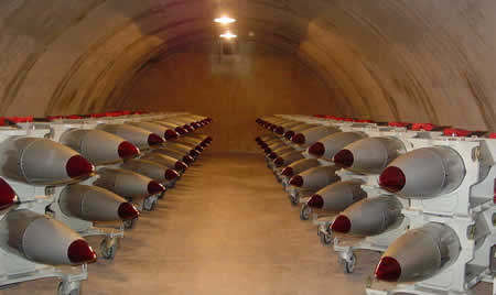 Nuclear weapons held in bunker, similar to the reports of the high level military source.