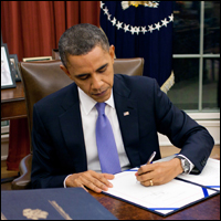 Obama once again changes law.