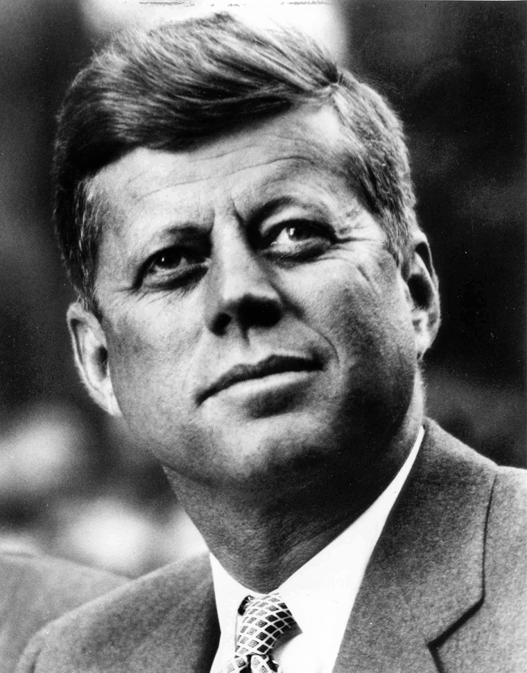 "President John Fitzgerald Kennedy, 1961-1963. Portrait distributed by the White House. Please credit ""John Fitzgerald Kennedy Library, Boston"" for the image."