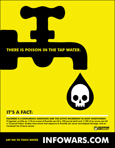Download Infowars' PDF to get the word out on water fluoridation health hazards.