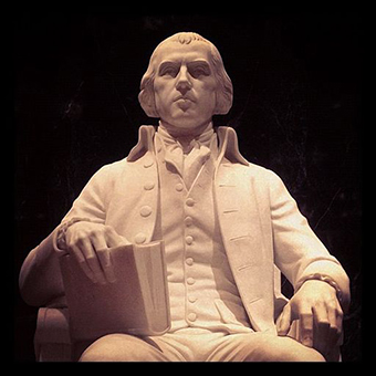 James Madison wrote the text of the Second Amendment.