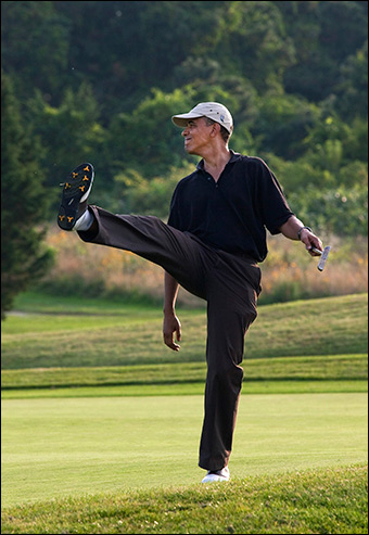 Obama has played nearly 160 rounds of golf while president.