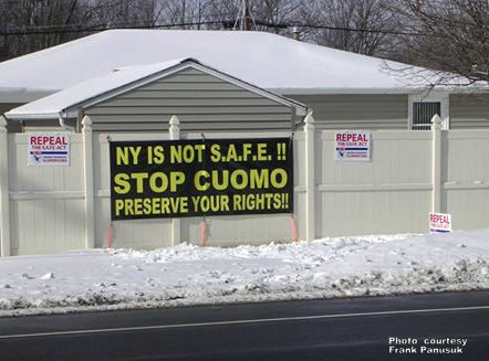 Hamburg man ordered to remove pro-Second Amendment sign / Image: WBEN.com
