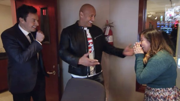 Jimmy Fallon Teams Up With Dwayne Johnson To Pull Off ...