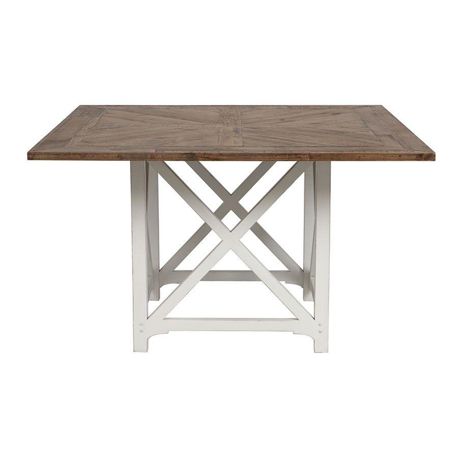 table carree blanche en epicea 8 personnes venitiennes