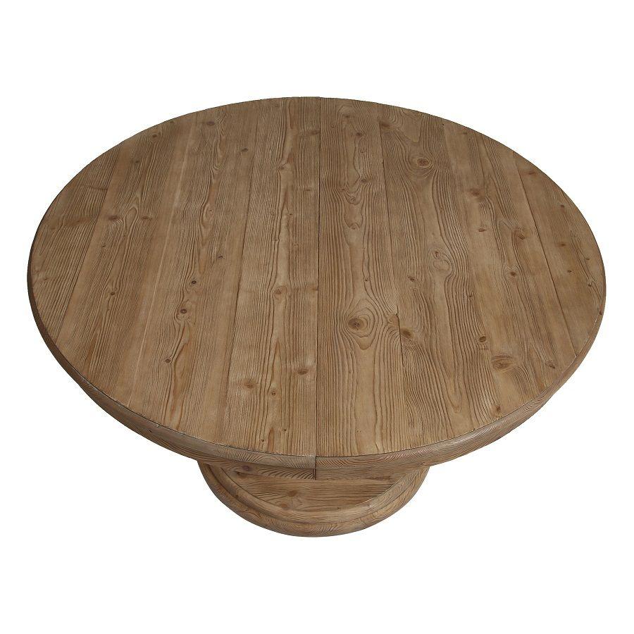table ronde extensible en epicea 8 personnes heritage