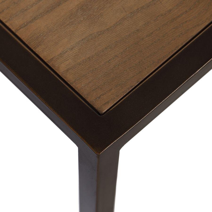 table basse contemporaine en bois verre et metal demeure