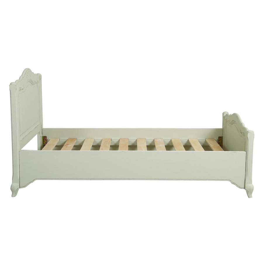 lit enfant 90x190 en pin blanc vieilli chateau