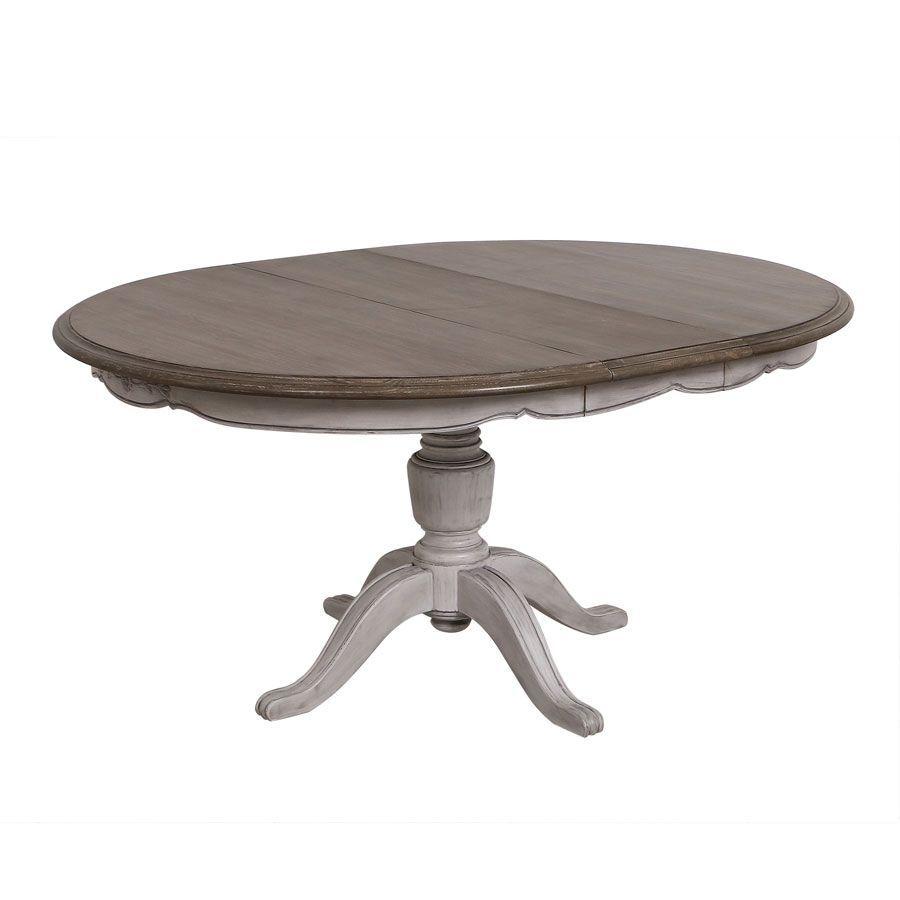 table ronde extensible en pin 8 personnes chateau