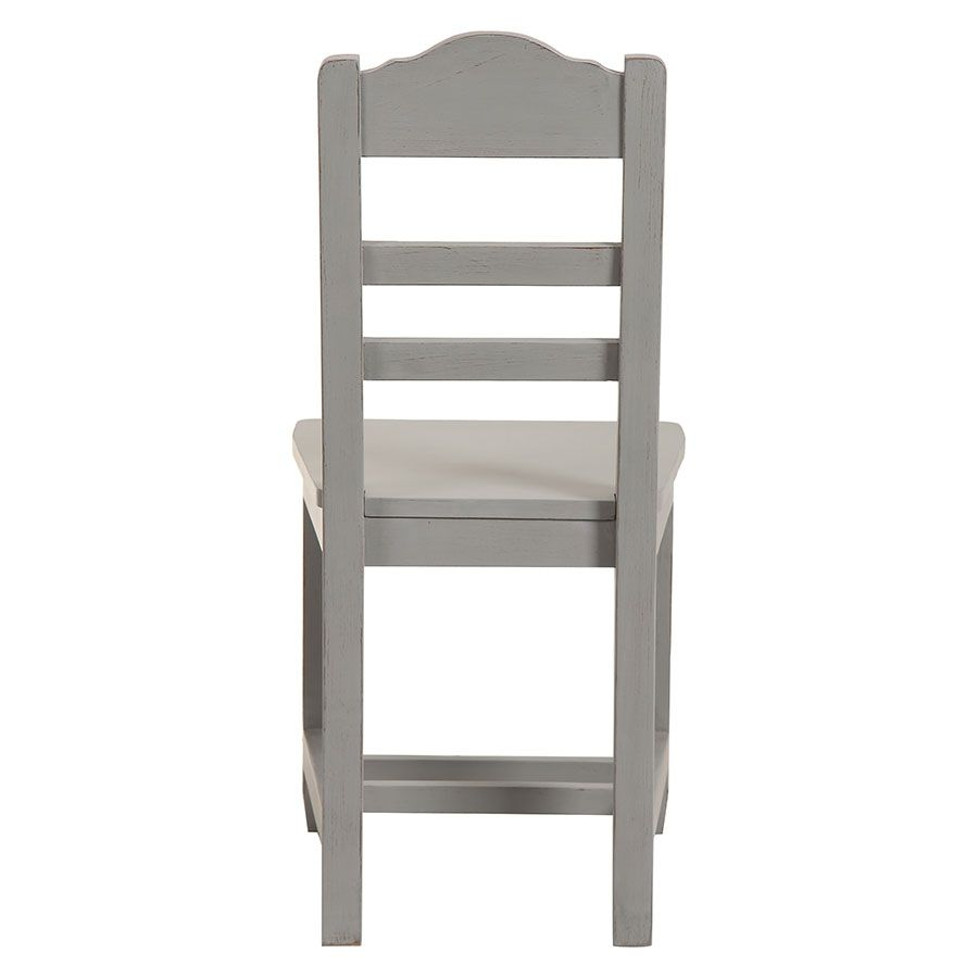 chaise en bois gris perle brocante