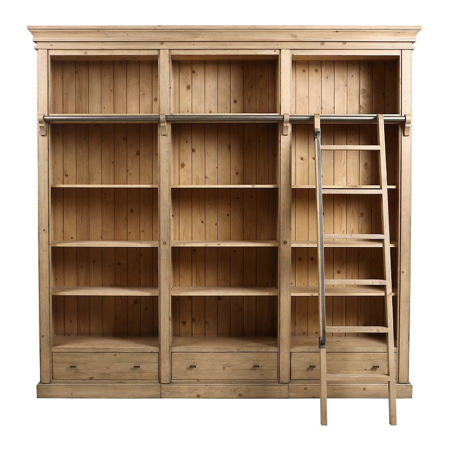 bibliotheque ouverte en bois massif initiale