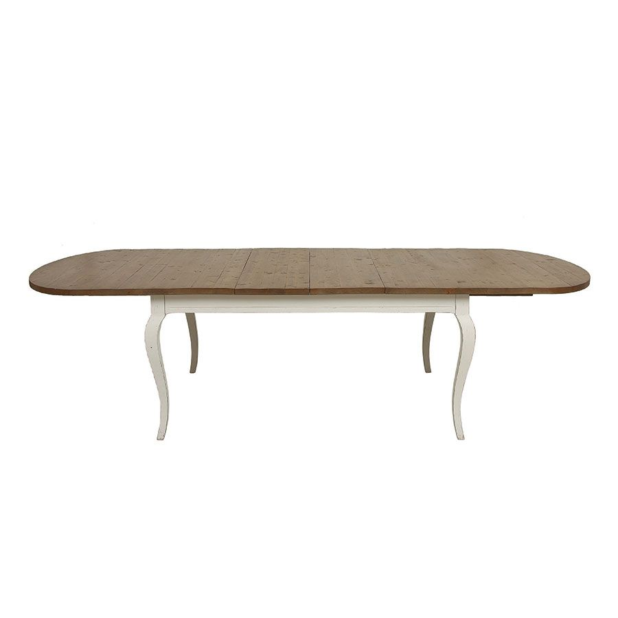table ovale extensible blanche en epicea 10 personnes provence