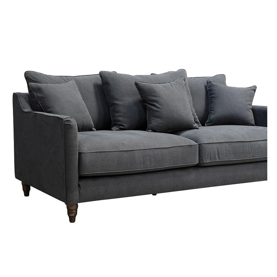 canape 4 places en tissu noir rivoli