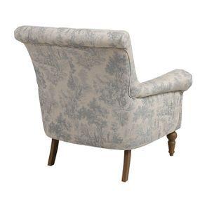 fauteuil en tissu toile de jouy emile