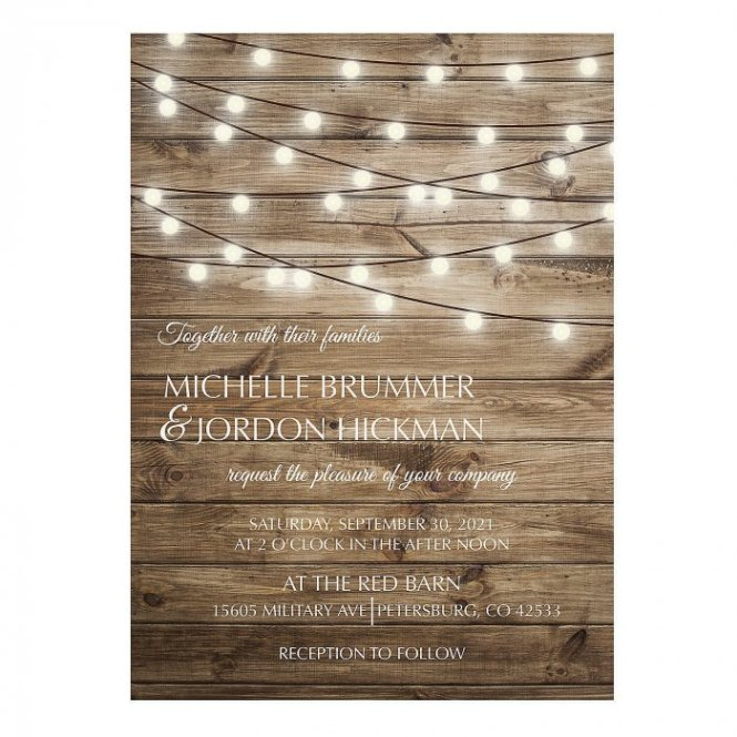 Personalized Rustic Lights Wedding