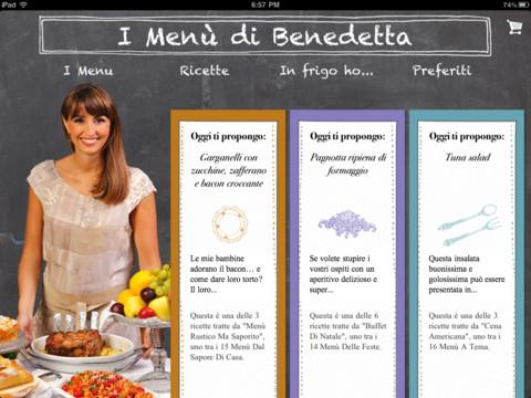 Dettagli su menu vigilia di natale benedetta parodi. I Menu Di Benedetta Arriva Su Ipad Con Un App E Un Ebook Ipad Iphone Italia