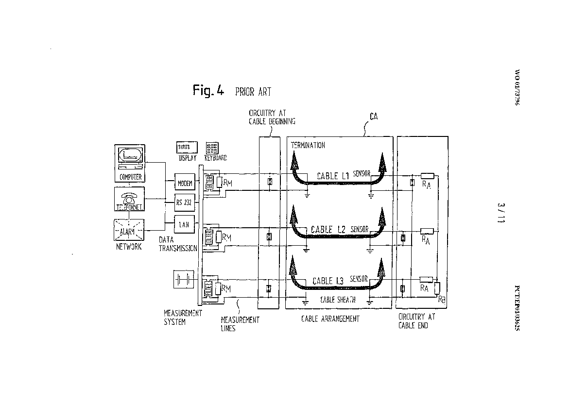Three Phase High Voltage Cable Arrangement Having Cross