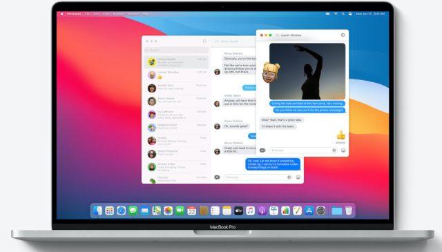 macOS Big Sur Nouvelle Application Messages