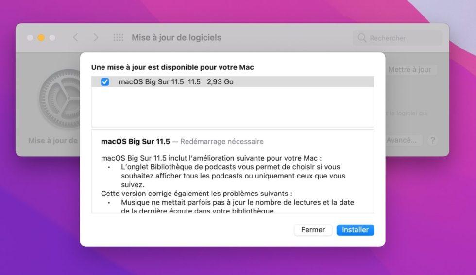 macOS 11.5 Disponibile