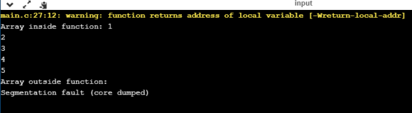 Return an Array in C