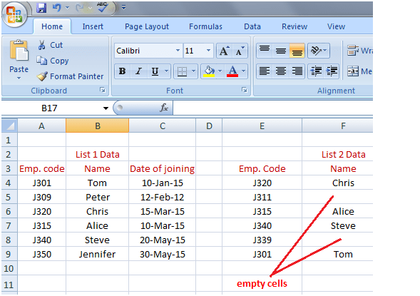 isna in Excel