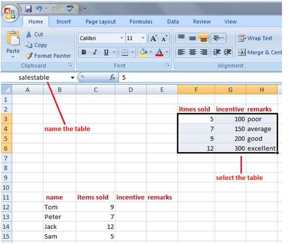vlookup in Excel 2