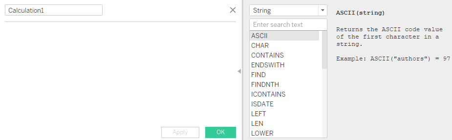 Tableau String Calculations