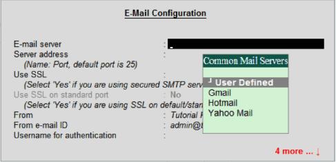Tally ERP 9 Configuration