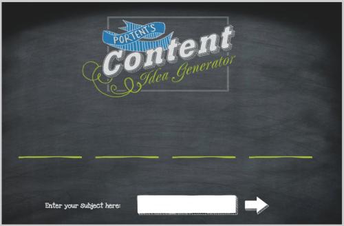 Blog post idea generator portent